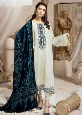 Ittehad Textiles Embroidered Karandi Unstitched 3 Piece Suit ITD19W OYSTER - Winter Collection