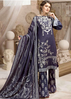 Ittehad Textiles Embroidered Linen Unstitched 3 Piece Suit ITD19W RAISIN - Winter Collection