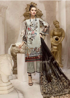 Ittehad Textiles Embroidered Karandi Unstitched 3 Piece Suit ITD19W RAMUT FLORAL - Winter Collection