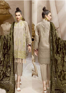Ittehad Textiles Embroidered Karandi Unstitched 3 Piece Suit ITD19W SOFT STONE - Winter Collection