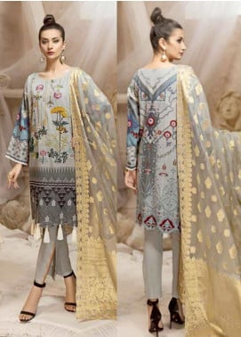 Ittehad Textiles Embroidered Khaddar Unstitched 3 Piece Suit ITD19W WASHK - Winter Collection