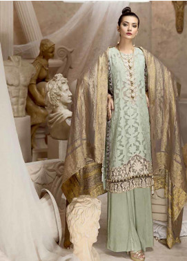 Ittehad Textiles Embroidered Jacquard Unstitched 2 Piece Suit ITD19W WINTER MINT - Winter Collection