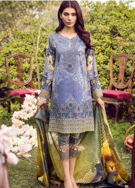Iznik Embroidered Lawn Unstitched 3 Piece Suit IZ18L 10 IRIS - Luxury Collection