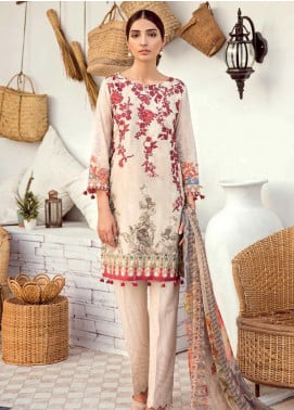 Iznik Chinon Embroidered Lawn Unstitched 3 Piece Suit IZC19-L3 11 SEED PEARL - Mid Summer Collection