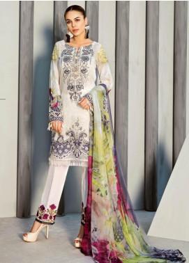 Iznik Embroidered Lawn Unstitched 3 Piece Suit IZ19LF 04 VAPOROUS WHITE - Festive Collection