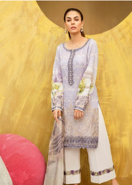 Iznik Embroidered Lawn Unstitched 3 Piece Suit IZ19LF 10 LAVENDER FROST - Festive Collection