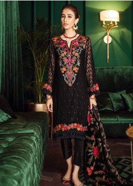 Iznik Embroidered Chiffon Unstitched 3 Piece Suit IZ19VF 01 Onyx Jewel - Festive Collection