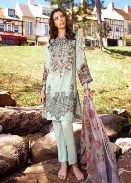 Iznik Embroidered Lawn Unstitched 3 Piece Suit IZ20L 8 - Luxury Collection