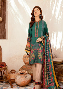 Iznik Embroidered Linen Unstitched 3 Piece Suit IZ19W 05 DEEP TEAL - Winter Collection
