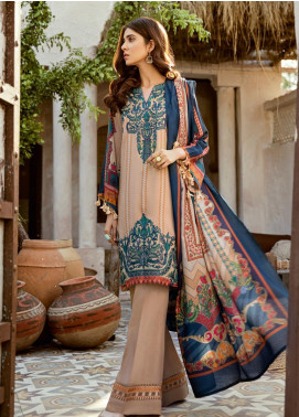 Iznik Embroidered Linen Unstitched 3 Piece Suit IZ19W 10 EARTHY TALES - Winter Collection