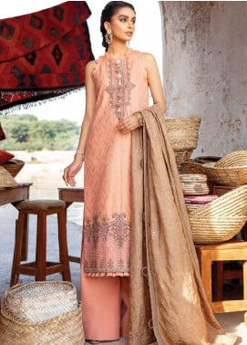 Zarsa by Iznik Embroidered Jacquard Unstitched 3 Piece Suit IZ20ZW 02 Gul - Winter Collection
