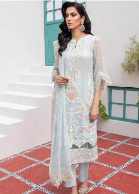 Jaan-e-Adaa by Azal Fashions Embroidered Chiffon Unstitched 3 Piece Suit AF20JA 01 Zircon - Festive Collection