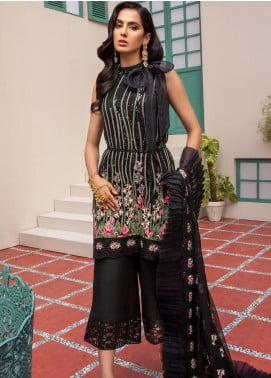 Jaan-e-Adaa by Azal Fashions Embroidered Chiffon Unstitched 3 Piece Suit AF20JA 05 Smoky Quartz - Festive Collection