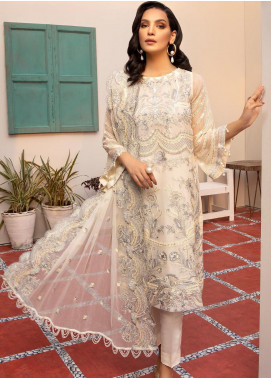Jaan-e-Adaa by Azal Fashions Embroidered Chiffon Unstitched 3 Piece Suit AF20JA 06 Opal - Festive Collection