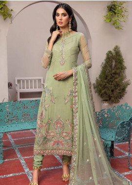 Jaan-e-Adaa by Azal Fashions Embroidered Chiffon Unstitched 3 Piece Suit AF20JA 07 Peridot - Festive Collection