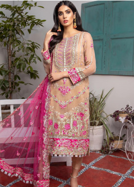 Jaan-e-Adaa by Azal Fashions Embroidered Chiffon Unstitched 3 Piece Suit AF20JA 08 Amethyst - Festive Collection