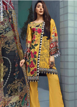 Jahanara Embroidered Linen Unstitched 3 Piece Suit JNW18L 02 - Luxury Collection