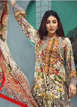 Jahanara Embroidered Linen Unstitched 3 Piece Suit JNW18L 06 - Luxury Collection