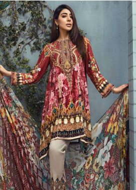 Jahanara Embroidered Linen Unstitched 3 Piece Suit JNW18L 08 - Luxury Collection