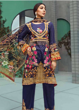 Jahanara Embroidered Linen Unstitched 3 Piece Suit JNW18L 09 - Luxury Collection