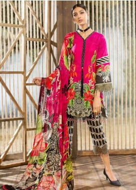 Jahanara Embroidered Lawn Unstitched 3 Piece Suit JN19L 08 - Spring / Summer Collection