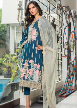Jaipur by ZS Textiles Embroidered Jacquard Unstitched 3 Piece Suit JZS19-J2 10 - Luxury Collection