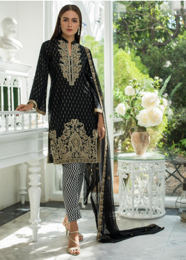 Jaipur by ZS Textiles Embroidered Jacquard Unstitched 3 Piece Suit JZS19J 1 - Luxury Collection
