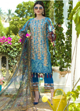 Jan-e-Adaa by Keshia Embroidered Lawn Unstitched 3 Piece Suit K20JA 01 KE-FM-0820 Amare - Luxury Collection