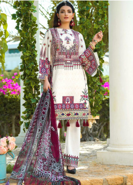 Jan-e-Adaa by Keshia Embroidered Lawn Unstitched 3 Piece Suit K20JA 04 KE-FM-1120 Habibti - Luxury Collection