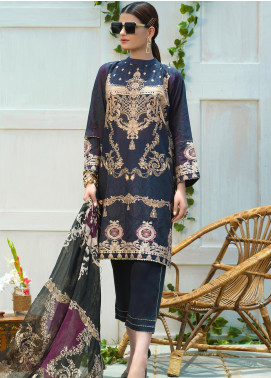 Jan-e-Adaa by Keshia Embroidered Lawn Unstitched 3 Piece Suit K20JA 06 KE-CS-1320 Tresna - Luxury Collection