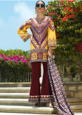 Jan-e-Adaa by Keshia Embroidered Lawn Unstitched 3 Piece Suit K20JA 09 KE-CS-0220 Cinta - Luxury Collection