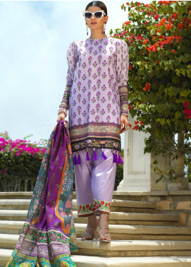 Jan-e-Adaa by Keshia Embroidered Lawn Unstitched 3 Piece Suit K20JA 10 KE-CS-0320 Ti Amo - Luxury Collection