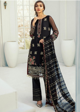 Janaan by Xenia Formals Embroidered Chiffon Unstitched 3 Piece Suit XE20J 02 BENAFSHA - Luxury Collection