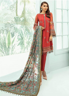 Janaan by Xenia Formals Embroidered Chiffon Unstitched 3 Piece Suit XE20J 03 ESTIRA - Luxury Collection
