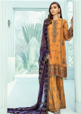 Janaan by Xenia Formals Embroidered Chiffon Unstitched 3 Piece Suit XE20J 06 MUGE - Luxury Collection