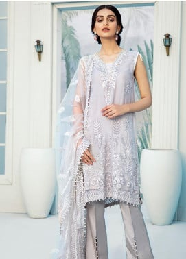 Janaan by Xenia Formals Embroidered Chiffon Unstitched 3 Piece Suit XE20J 07 MEHRMA - Luxury Collection