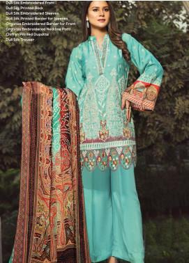 Janiya by Resham Ghar Embroidered Silk Unstitched 3 Piece Suit JRG20DS 05 - Winter Collection