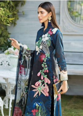 Janiya by Resham Ghar Embroidered Lawn Unstitched 3 Piece Suit JRG19L 03 - Spring / Summer Collection