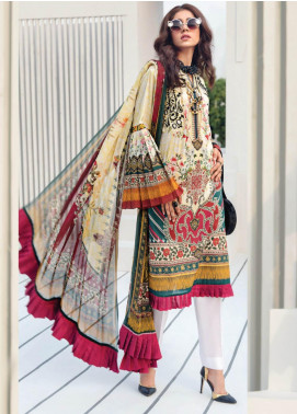Janiya by Resham Ghar Embroidered Lawn Unstitched 3 Piece Suit JRG19-L2 01 - Mid Summer Collection