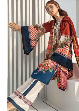 Janiya by Resham Ghar Embroidered Lawn Unstitched 3 Piece Suit JRG19-L2 10 - Mid Summer Collection