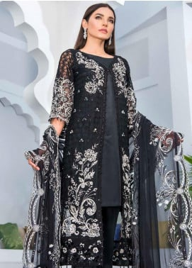 Jannan by Riaz Arts Embroidered Chiffon Unstitched 3 Piece Suit RA20-JP2 11 - Premium Collection