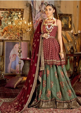 Javeria Zoa Embroidered Chiffon Unstitched 3 Piece Suit JVZ19WF 01 - Wedding Collection