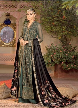 Javeria Zoa Embroidered Chiffon Unstitched 3 Piece Suit JVZ19WF 03 - Wedding Collection