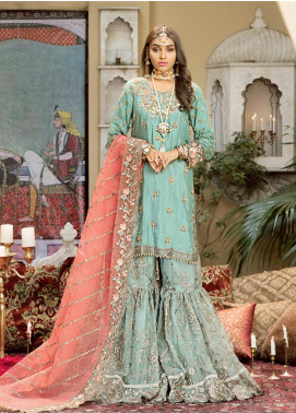 Javeria Zoa Embroidered Raw Silk Unstitched 3 Piece Suit JVZ19WF 04 - Wedding Collection