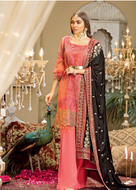 Javeria Zoa Embroidered Organza Unstitched 3 Piece Suit JVZ19WF 06 - Wedding Collection