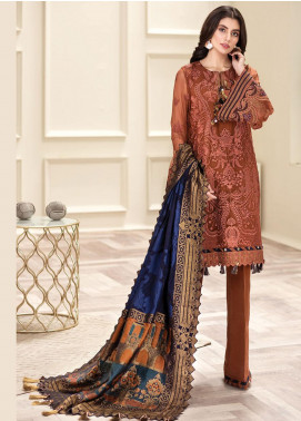 Jazmin Embroidered Chiffon Unstitched 3 Piece Suit JZ20AL 2 - Luxury Collection