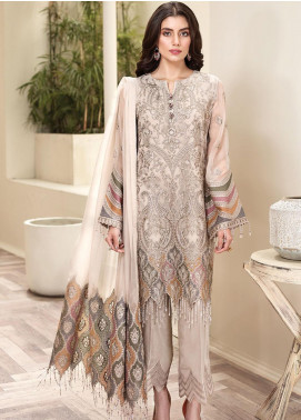 Jazmin Embroidered Chiffon Unstitched 3 Piece Suit JZ20AL 3 - Luxury Collection