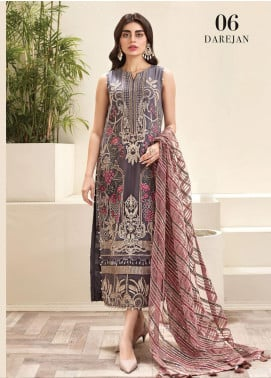 Jazmin Embroidered Chiffon Unstitched 3 Piece Suit JZ20AL 6 - Luxury Collection