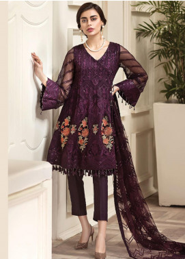 Jazmin Embroidered Chiffon Unstitched 3 Piece Suit JZ20AL 9 - Luxury Collection