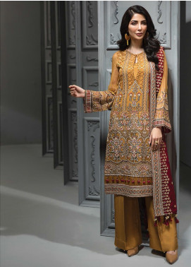 Tena Durrani Embroidered Chiffon Luxury Formal Collection 05 Sienna 2019